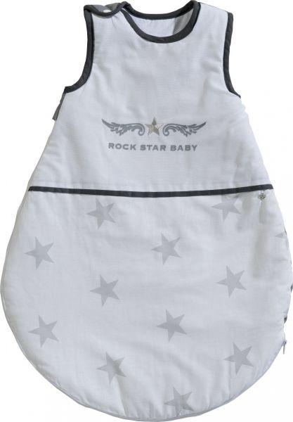 Schlafsack 'Rock Star Baby 2' 70cm weiß