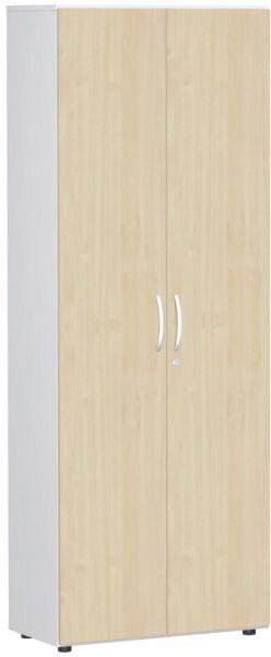 Garderobenschrank mit ausziehbarem Garderobenhalter, 80x42x216cm, Ahorn Weiß | Flur & Diele > Garderoben > Garderobenschränke | Weiß | Ahorn | Geramöbel