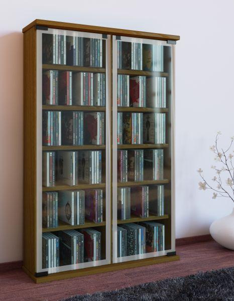 """CD/DVD Möbel """"Galerie"""" für 300 CDs - Eiche"""