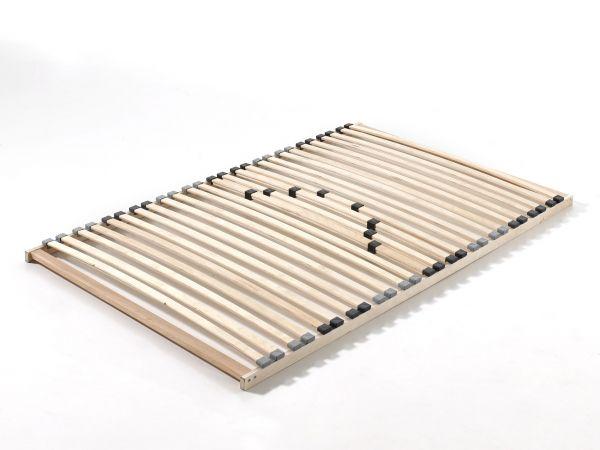 Lattenrost mit 26 Schichtholzfederleisten und Härteverstellung, Liegefläche 120 x 200 cm, Natur