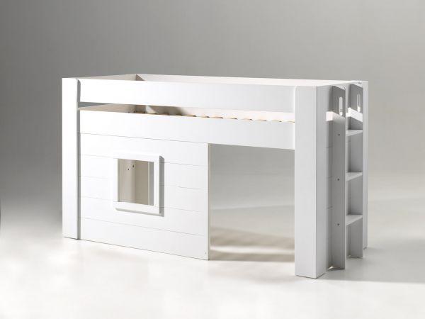 Noah halbhohes Bett 90 x 200 cm Liegefläche, Weiß