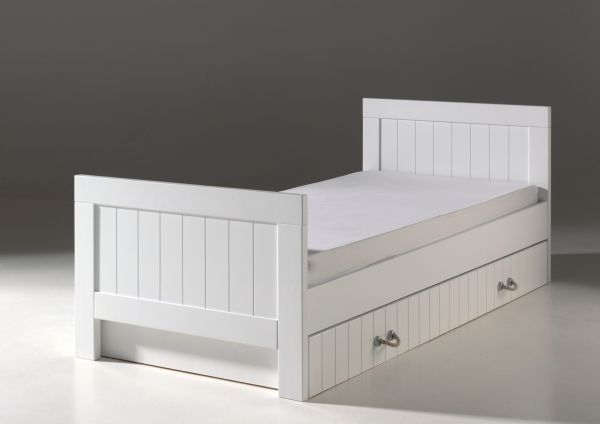 Set Lewis best. aus: Einzelbett 90 x 200 cm und Bettschublade, weiß