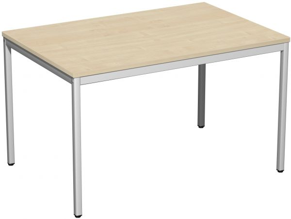 Schreibtisch, 120x80cm, Ahorn / Lichtgrau