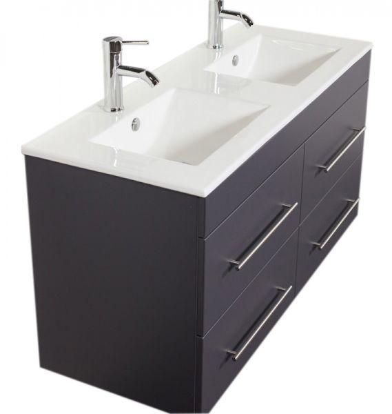 Waschplatz Argos, anthrazit seidenglanz