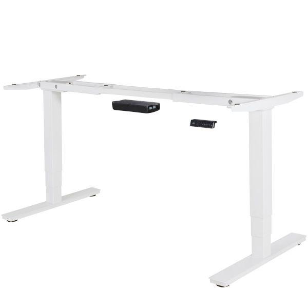 Elektrisch höhenverstellbares Schreibtischgestell mit Memory Funktion, weiß