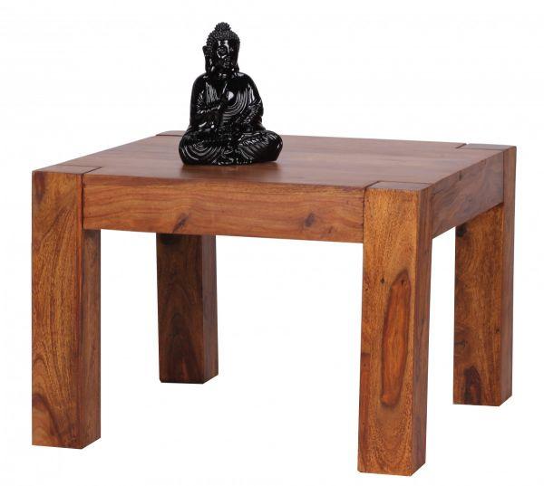 Sheesham Couchtisch, Wohnzimmer-Tisch, 60 cm breit, Massiv-Holz, Dunkel-Braun