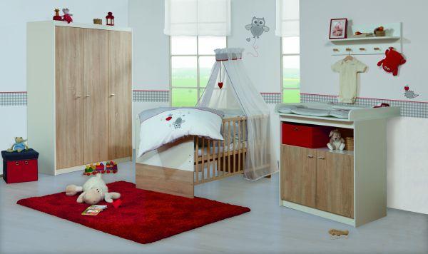 Kinderzimmerset 'Gabriella' (breit) Eiche / weiß