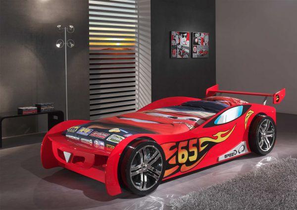 Kinderbett Autobett Le Mans rot