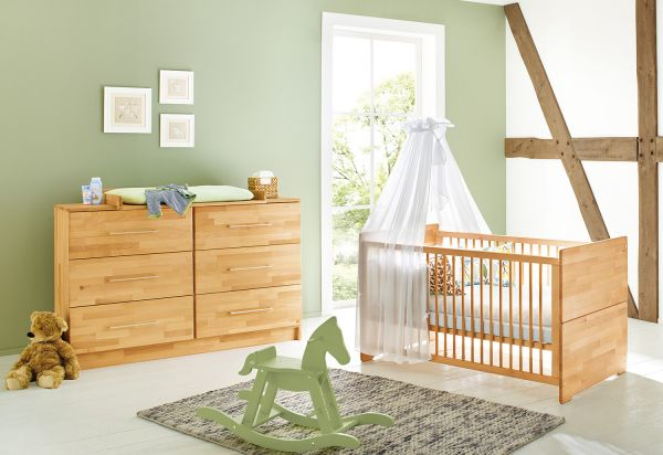 Kinderzimmer Sparset `Natura` extrabreit, natur   Kinderzimmer > Komplett-Kinderzimmer   Pinolino