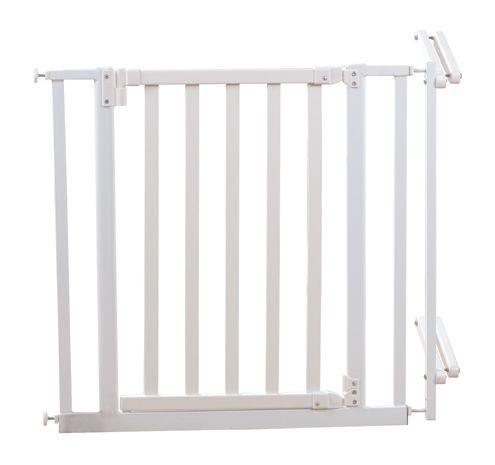 Treppenschutzgitter 81-90cm Holz/metall, weiß