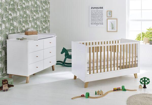 Kinderzimmer Sparset 'Pan' extrabreit, weiß / klar