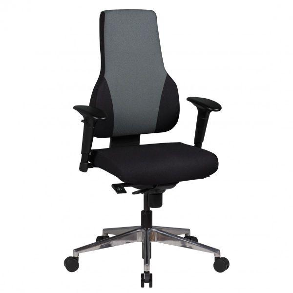 QUENTIN Bürostuhl, Schreibtischstuhl, Chefsessel, Schwarz Grau