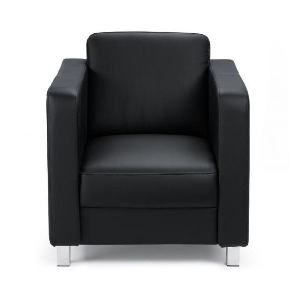 Sessel Arezzo Echtleder, schwarz