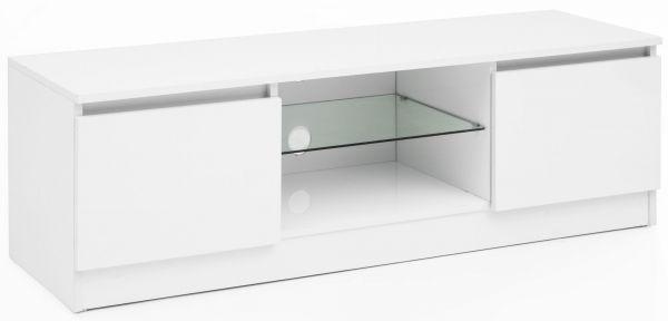Lowboard WL5.717 120x39x40 cm Weiß Hochglanz Holz HiFi Regal