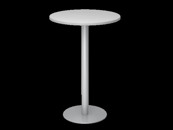 Stehtisch STH08 rund, 80cm, Grau / Silber