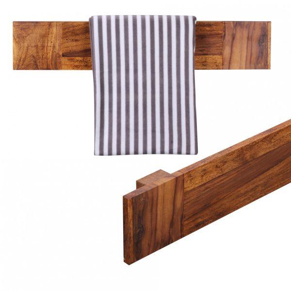 Handtuchhalter, Landhaus-Stil, Massivholz, Sheesham, 80 cm