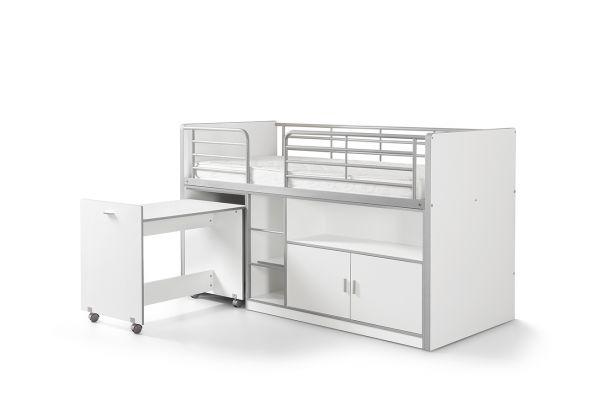 Hochbett Kinderbett Bonny, Weiß