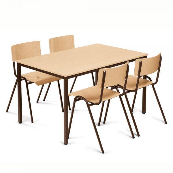 Kantinenset Tisch: Platte Buchedekor