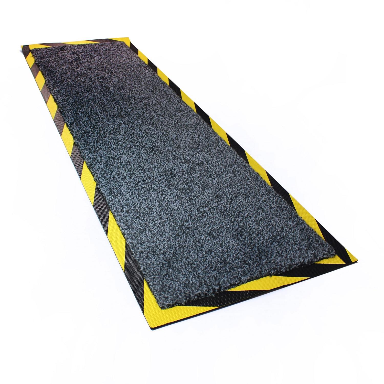 schwarz 75 x 85 cm aus 100 /% Nitrilgummi Mehrzweckmatte scrapemat Doortex Schmutzfangmatte rechteckig