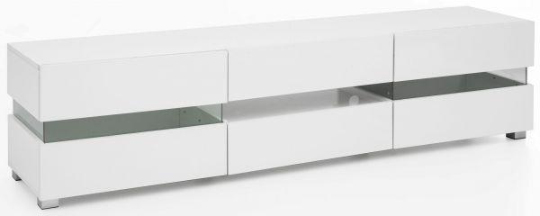 Design Lowboard WL5.715 176,5 x 45 x 40 cm Weiß Hochglanz Holz HiFi Regal LED