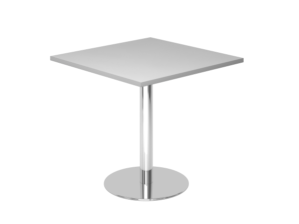 Besprechungstisch STF08 80x80cm Grau Gestellfarbe: Chrom