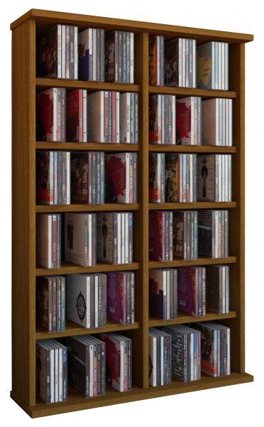 CD/DVD-Turm Ronul für 300 CDs - Eiche | Kinderzimmer > Kinderbetten > Baldachine & Tunnels | Eiche | VCM-Möbel