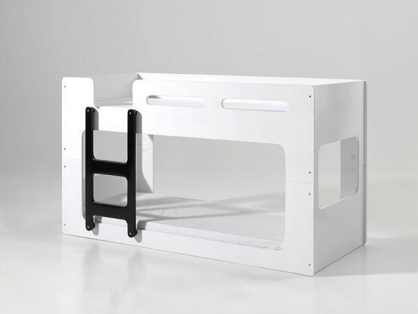 Luca halbhohes Bett 90 x 200 cm Liegefläche, Weiß