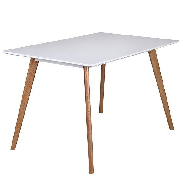 Esszimmertisch , Holz, 120 x 80 x 75 cm, Weiß