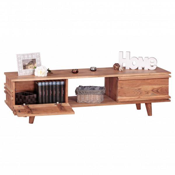 TV-Board, Lowboard, Massivholz, Akazie, 145 cm
