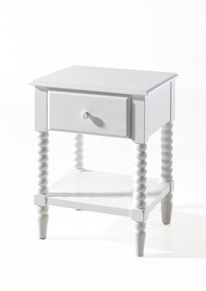 Alana Nachtkonsole mit 1 Schublade, Weiß