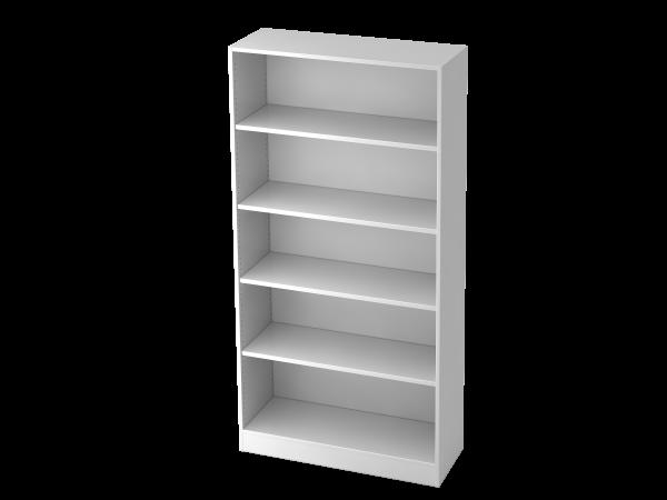 Regal breit 5OH, Sockelblende Weiß