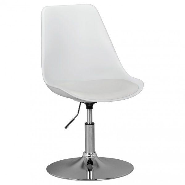 KORSIKA Drehstuhl Stuhl, höhenverstellbar, Kunstleder, weiß