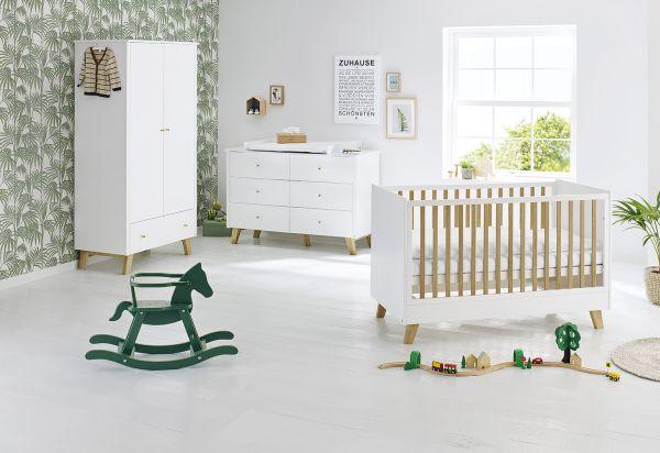 Kinderzimmer 'Pan' extrabreit, weiß / klar