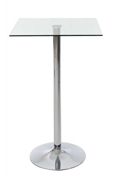 Glastisch quadratisch 105 cm, klarglas