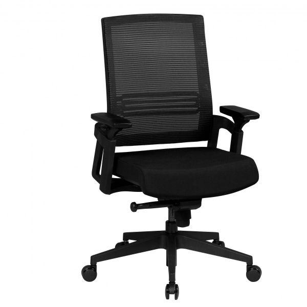 APOLLO A2 Bürostuhl Schreibtischstuhl, Netzbezug Schwarz