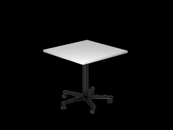 Säulenhubtisch, 80x80cm, Grau / Schwarz