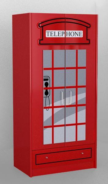 Kleiderschrank London, Rot