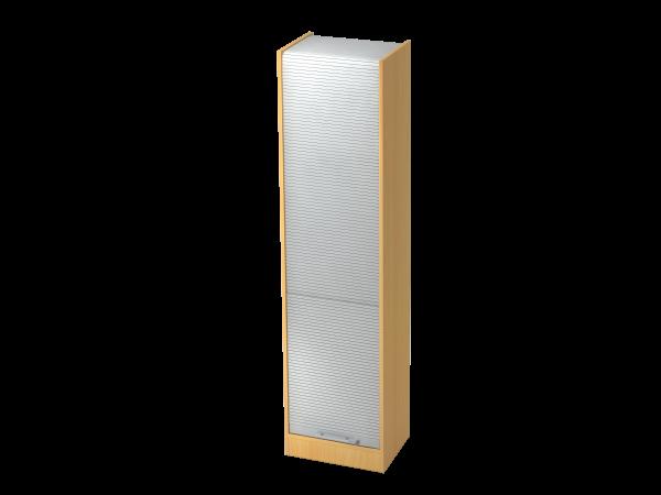 Rollladenschrank 50cm, 5OH RE Buche / Silber
