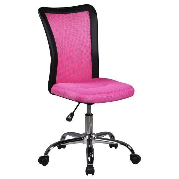 LUKAS Kinderschreibtischstuhl Jugendstuhl, für Kinder ab 6 Jahren, Pink