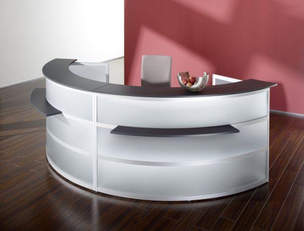 Komplett-Theke RUND / Silber / Anthrazit / 437x110x85 cm | Küche und Esszimmer > Bar-Möbel > Tresen und Theken | BST-Design