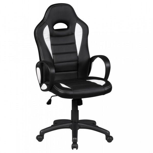 DAKAR Bürostuhl, Schreibtischstuhl, Chefsessel, Schwarz Weiß
