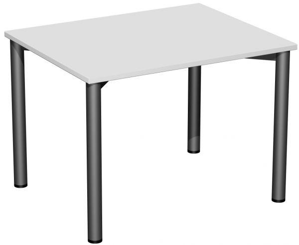 Konferenztisch Rundfuß, 100x80cm, Lichtgrau Anthrazit   Büro > Bürotische > Konferenztische   Anthrazit   Geramöbel