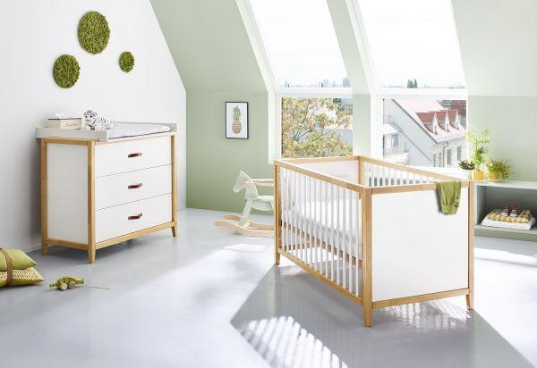 Kinderzimmer Sparset 'Calimero' breit, weiß / klar