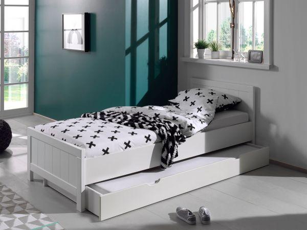 Set Erik best. aus: Einzelbett, Bettschublade, Weiß