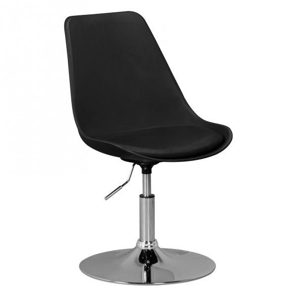 KORSIKA Drehstuhl Stuhl, höhenverstellbar, Kunstleder, Schwarz