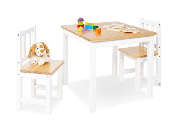 Kindersitzgruppe 'Fenna', 3-tlg., weiß / klar
