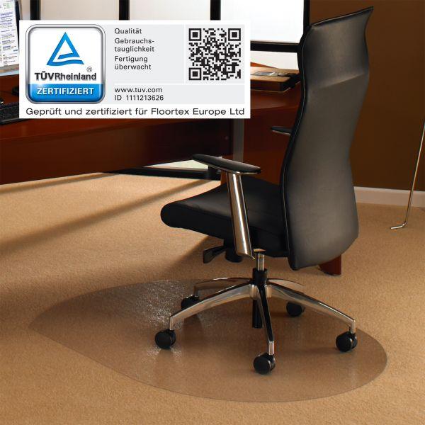 Bodenschutzmatte, 99 x 125 cm, konturiert, transparent
