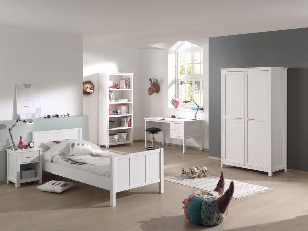 Stella Set best. aus Bett, Schreibtisch, Regal, Kleiderschrank 2-trg ...
