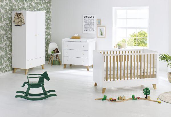 Kinderzimmer 'Pan' breit, weiß / klar