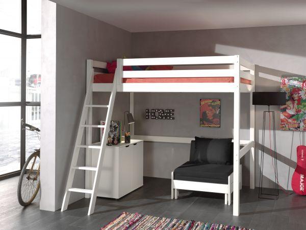 Etagenbett Massiv Weiss Kiefer 90x200 : W etagenbett für erwachsene weiß cm nischenhöhe
